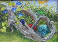 Oil Painting Driftwood