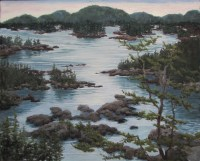 Maine seascape pastel