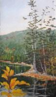Pastel Acadia pond