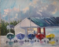 Oil Maine Sailboat paintings