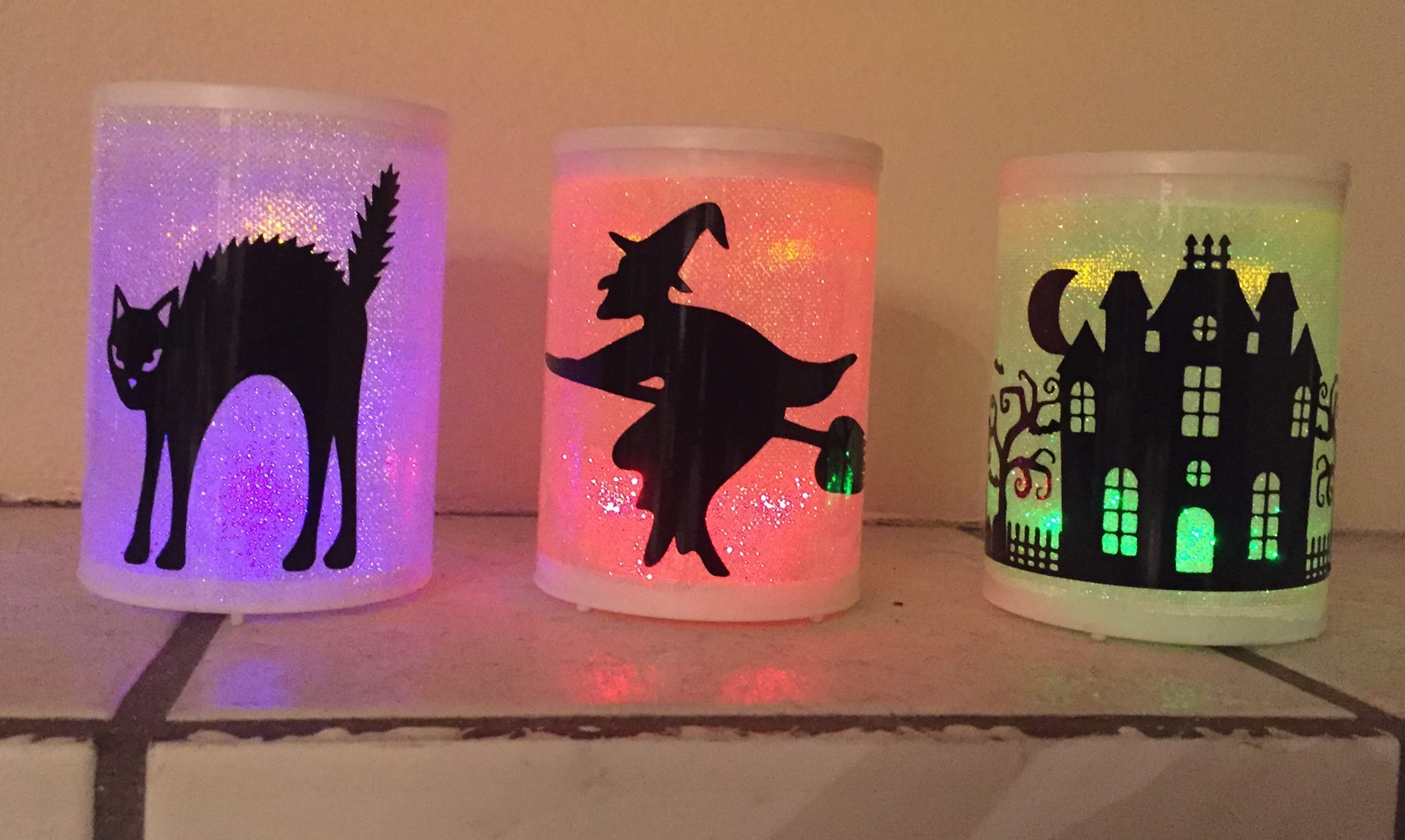 halloween chair covers dollar tree office good design diy battery operated led pillar candles who