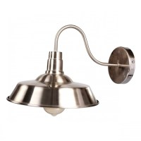Barn Gooseneck Wall Sconce Farmhouse, Satin Nickel - Wall ...
