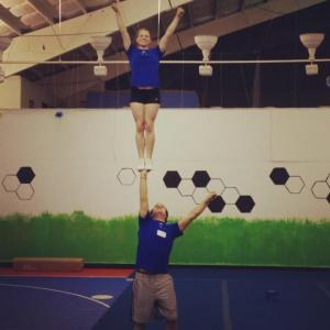 Coed Cheer Partner Stunt Cupie Awesome