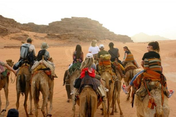 camel ride wadi rum