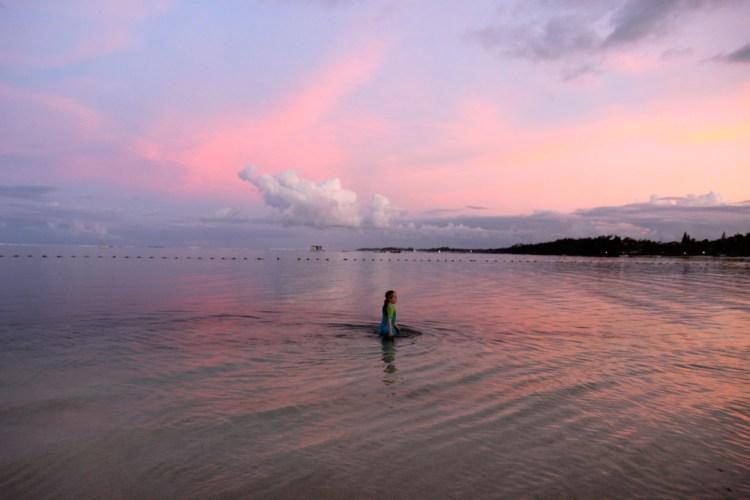 sunset at Long Beach Mauritius
