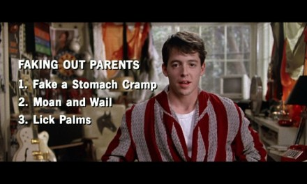 Like a tragic, older Ferris Bueller.