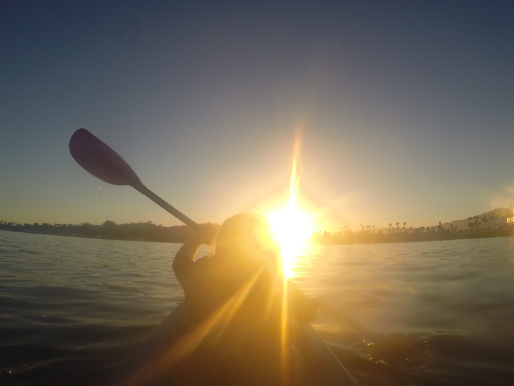 sunset cruise kayak santa barbara