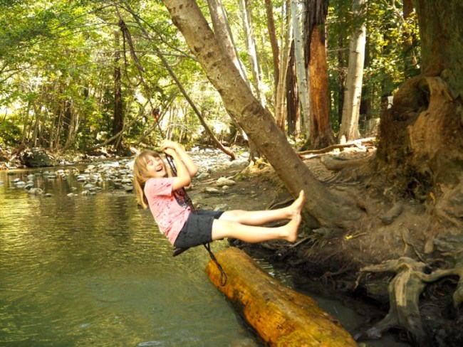 Big Sur River with kids
