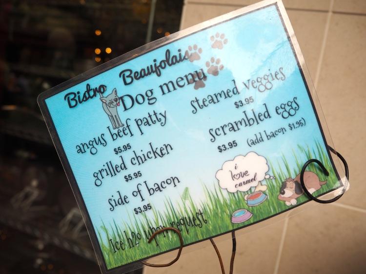 dog menu carmel