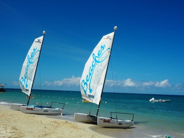 boats at beaches ocho rios