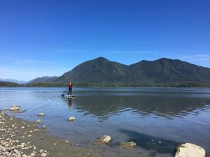 paddleboarding in tofino