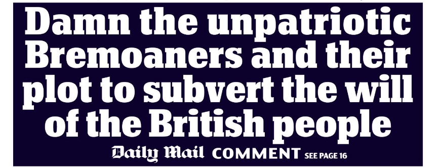 Brexit moaners unpatriotic
