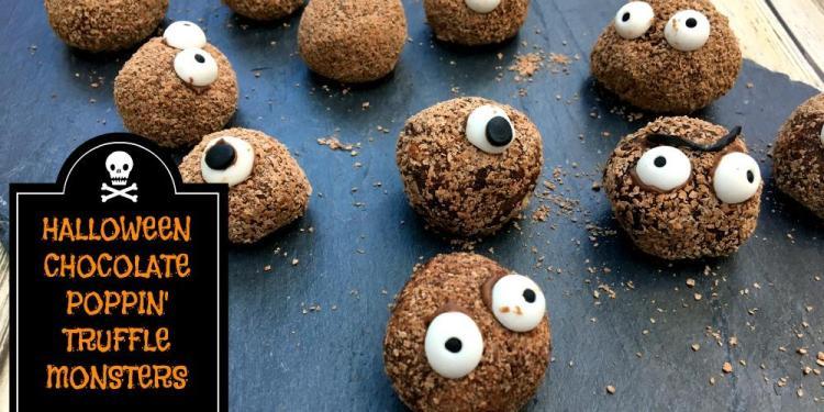 Halloween popping candy truffles