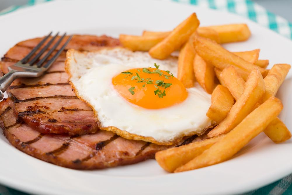 gammon egg and chips