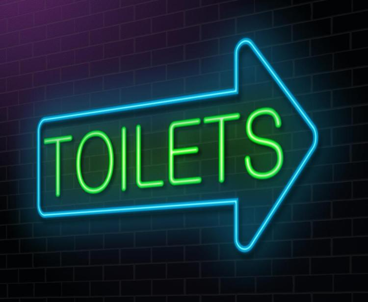 neon toilet sign