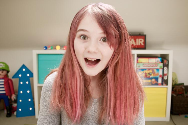 flea pink hair
