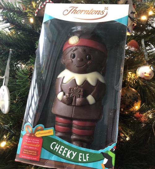 Thorntons christmas elf