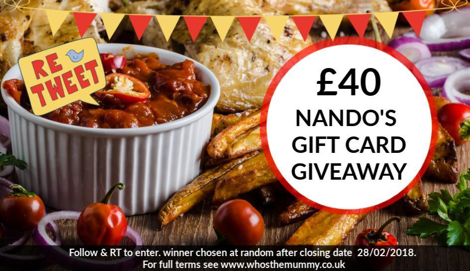 win a Nandos gift card