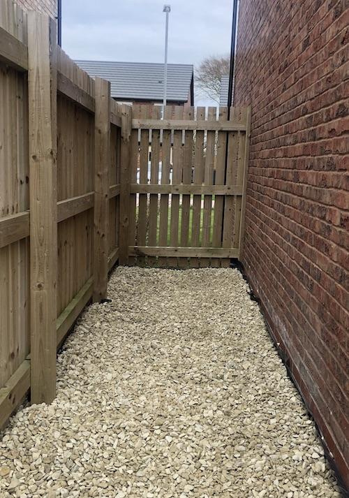 gravel new build garden