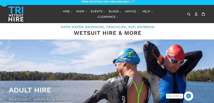 plus sized womens wetsuit hire