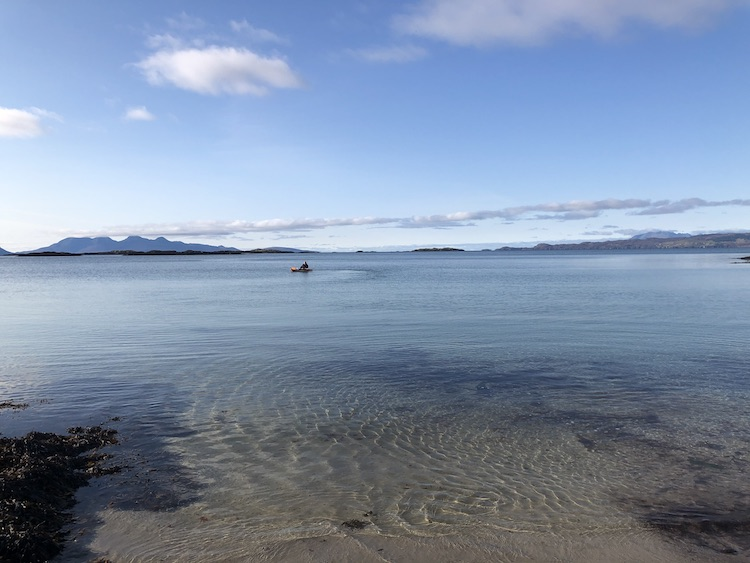 kayaking arisaig beach