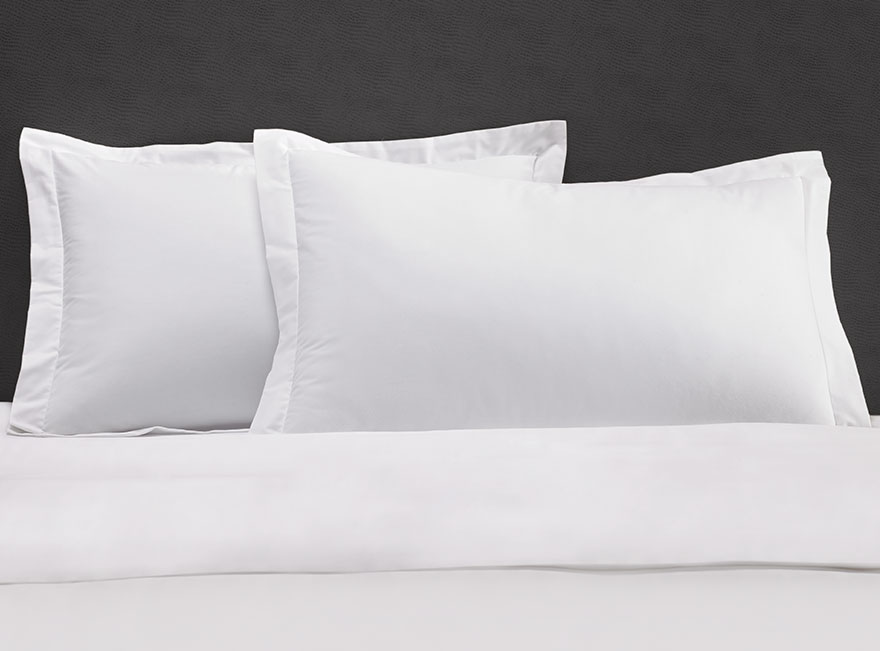 solid white pillow shams