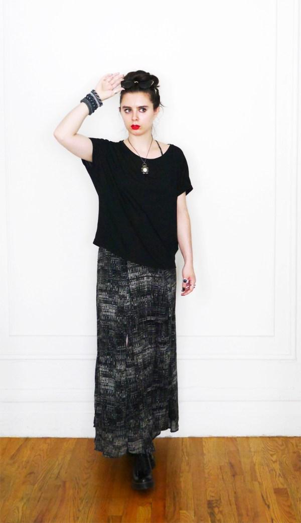 10x10 Wardrobe Challenge Dress+SlouchyTee 4