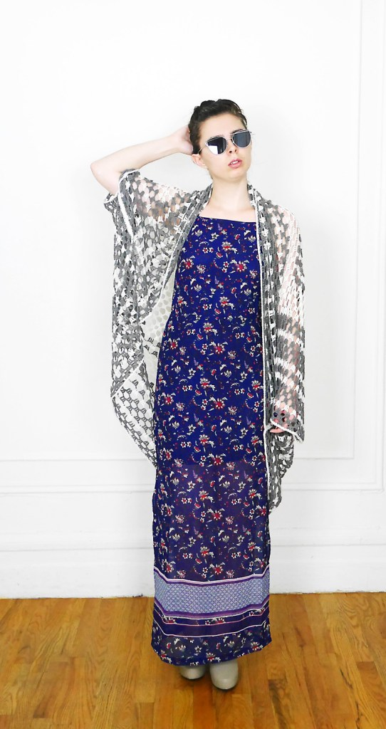 A floral maxi dress that doesn't look like a tablecloth, plus an effortless oversized crochet cardigan