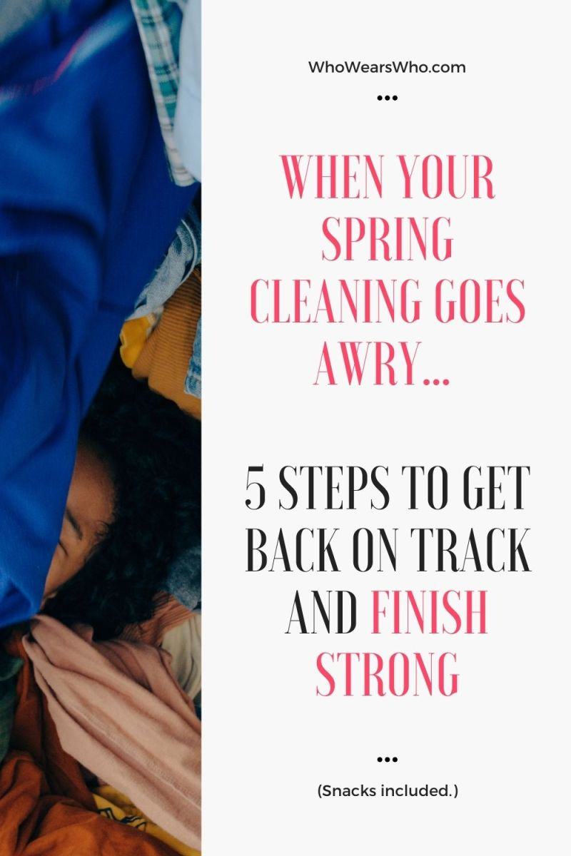 When Your Spring Cleaning Goes Awry 5 Steps to get back on track graphic