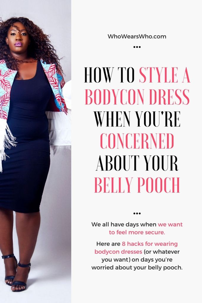How to style a bodycon dress blog graphic