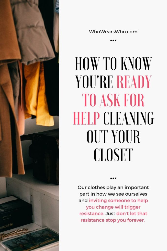 How to know you're ready to ask for help cleaning out your closet blog graphic