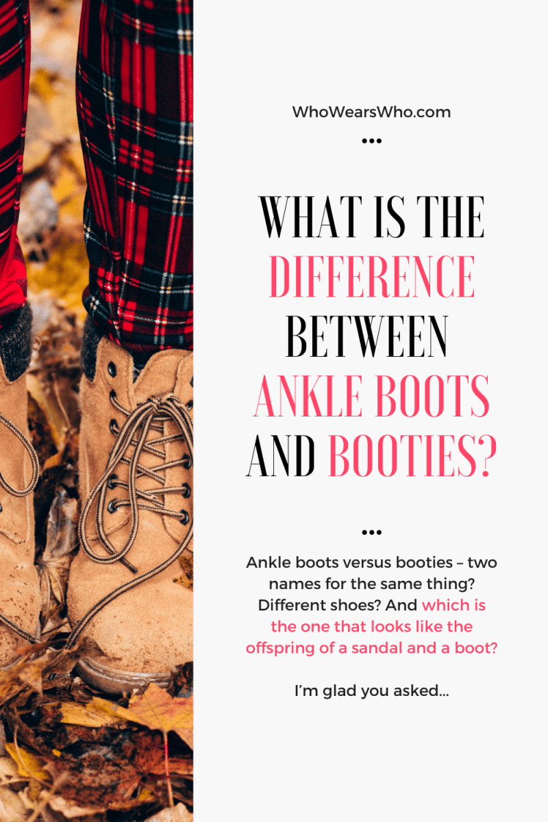 What is the difference between ankle boots and booties blog graphic