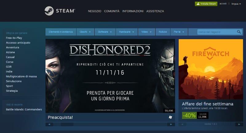 steam - giochi gratis da scaricare