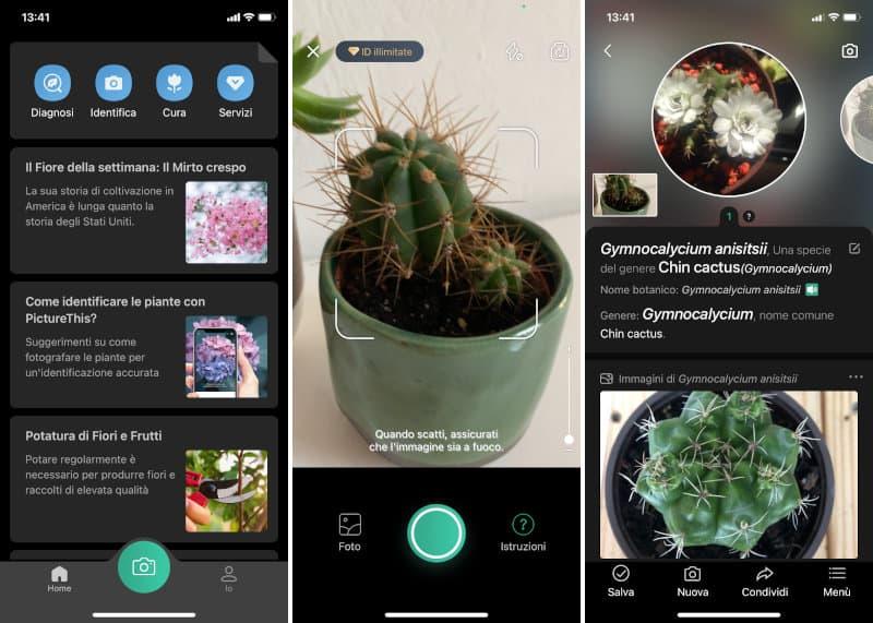 Come si usa l'app per riconoscere le piante con una foto