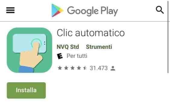 Play Sotre - clic automatico