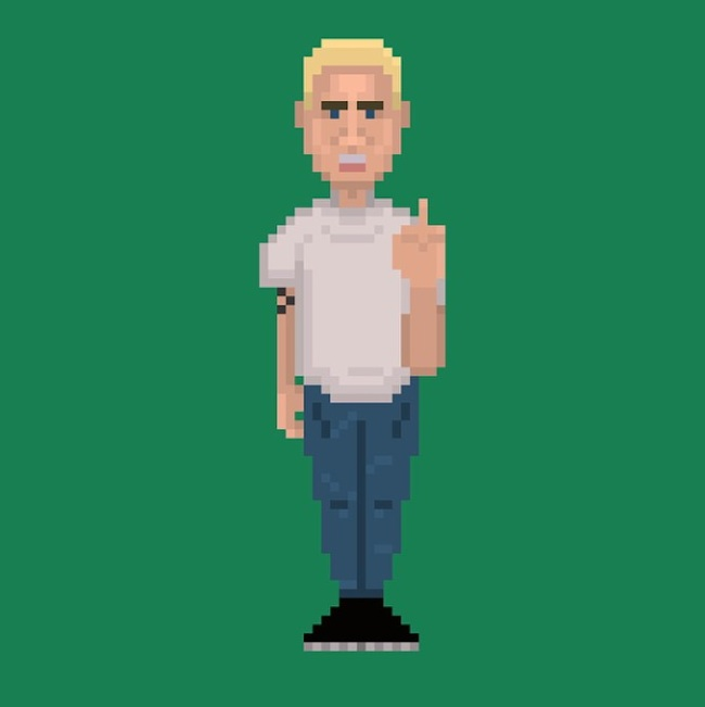 Pick Ur Pixels 8BitRapstars illustrated by UK Artist AMulli 23 Pictures