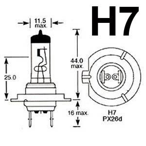 NEW! OSRAM H7 COOL BLUE INTENSE HEADLIGHT BULBS XENON LOOK