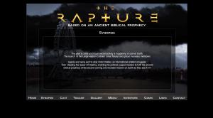 Screen shot of movie website