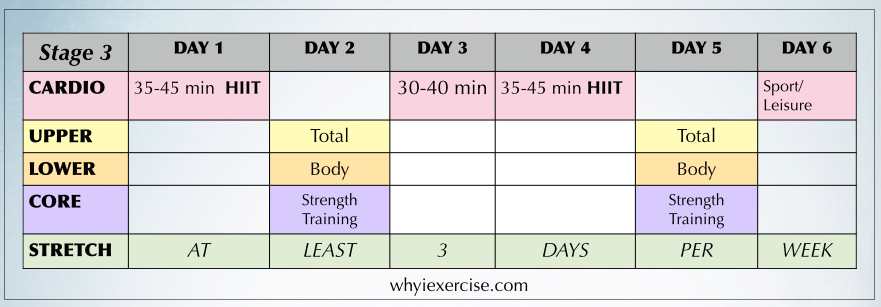 Free exercise program: workout calendar plus a guide to exercise.