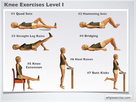 knee exercises therapy strengthening