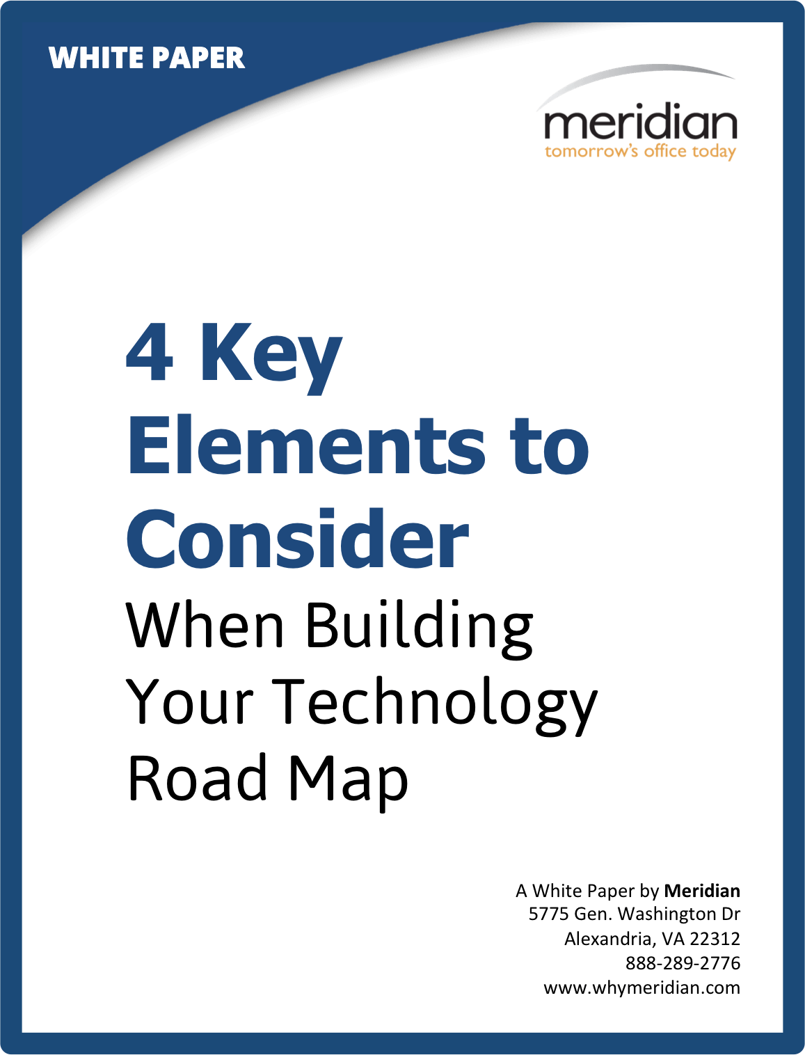 White Paper Four Key Elements To Consider When Building