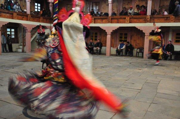 dancing monks