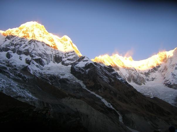 Annapurna Mountains at sunrise