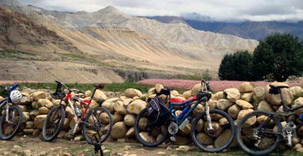 biking in upper mustang