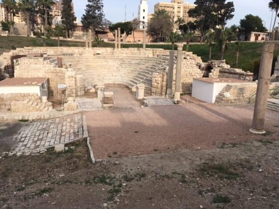 Roman Auditorium & Bathhouse in Alexandria