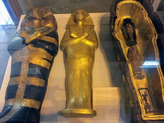 Royal Coffins at the Egyptian Museum by Bassem Sameh