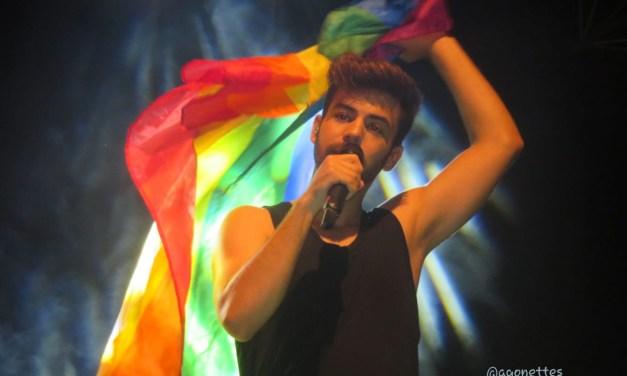 Agoney brilló en Vicálvaro el día del Orgullo