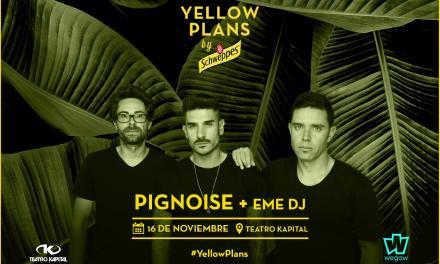 Pignoise cerrará por todo lo alto el ciclo Yellow Plans by Schweppes y Wegow