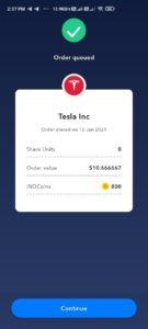 IND Money Share Order