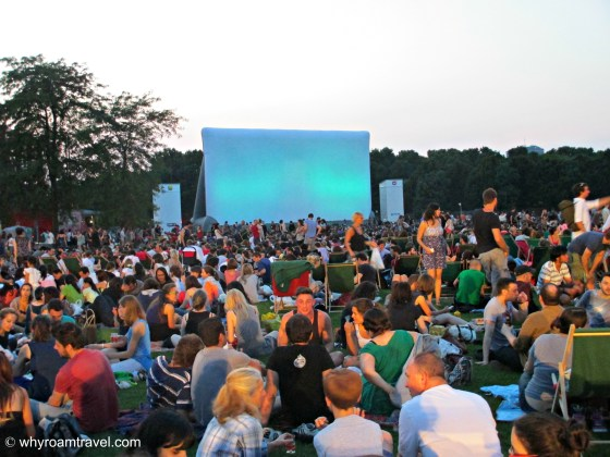 Watch a movie in the park in Paris | WhyRoamTravel.com